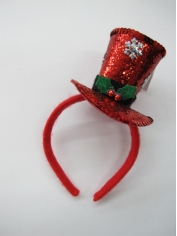 Red Glitter Mini Top Hat - Christmas Hat