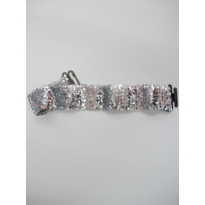 Silver Sequin Belt - Sequin Costumes