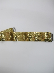 Gold Sequin Belt - Sequin Costumes