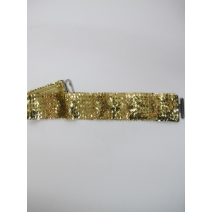 Gold Sequin Belt - Sequin Costumes