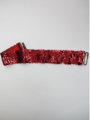 Red Sequin Belt - Sequin Costumes