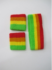 Rainbow Sweatband Set - Mardi Gras Costumes