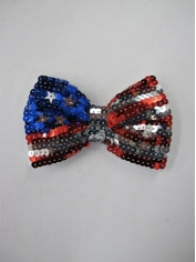 American Flag Sequin Bow Tie - 4th Of July Costumes