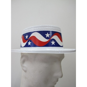 American Flag Boater Hat - 4th Of July Costumes