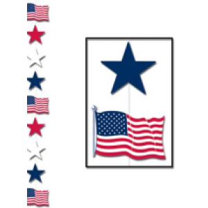 American Patriotic Star Stringer - 4th of July Costumes Accessories