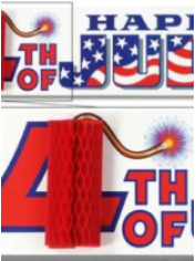American 4th July Sign