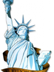 American Miss Liberty Cut Out - 4th of July Costumes Accessories