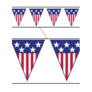 American Banner Pennant - 4th of July Costumes Accessories