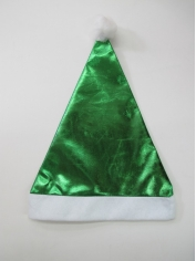 Green Metallic - Christmas Hat