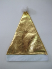 Gold Metallic - Christmas Hat