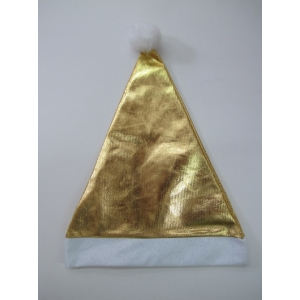 Gold Metallic - Christmas Hat