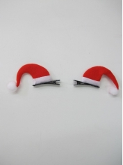 Mini Santa Hats Hair Clip