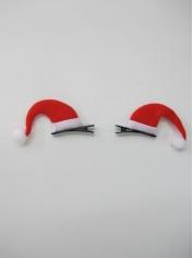 Mini Santa Hats Hair Clip