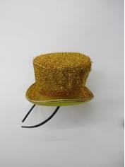 Gold Glitter Mini Top Hat