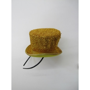 Gold Glitter Mini Top Hat