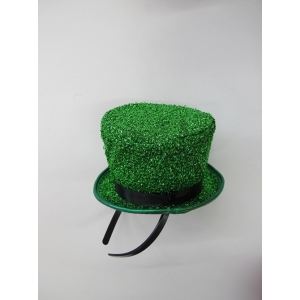 Green Glitter Mini Top Hat