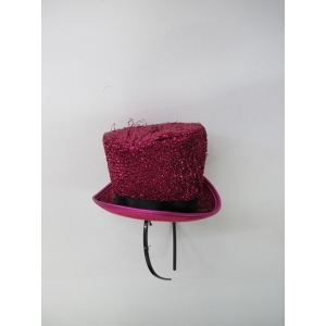 Pink Glitter Mini Top Hat