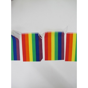 Rainbow Bunting Flag - Mardi Gras Decorations
