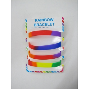 Rainbow Bracelets - Mardi Gras Decorations