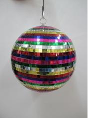 Large Rainbow Mirror Ball - Mardi Gras Decorations