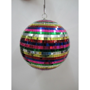 Large Rainbow Mirror Ball - Mardi Gras Decorations