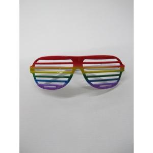 Rainbow Shutter Sunglasses - Mardi Gras Costumes