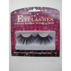 Blue with Black Shining Eyelashes - Mardi Gras Costumes
