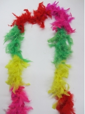 Rainbow Feather Boas - Mardi Gras Decorations