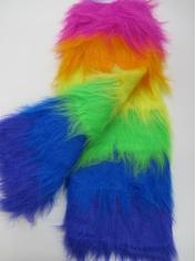 Long Rainbow Leg Warmers - Mardi Gras Costumes