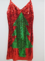 Christmas Tree Sequin Dress - Christmas Costume