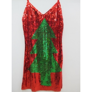 Christmas Tree Sequin Dress - Christmas Costume