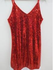 Red Sequin Santa Girl - Christmas Costume