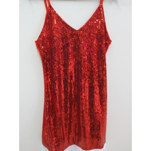 Red Sequin Santa Girl - Christmas Costume