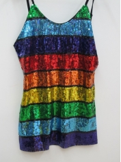 Girl Rainbow Sequin Singlet - Mardi Gras Costumes