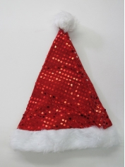 Red Sequin Santa Hat - Christmas Hats