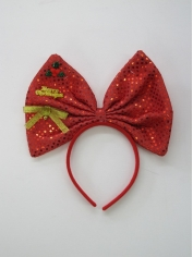 Christmas Large Bow on Headband