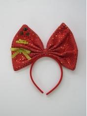 Christmas Large Bow on Headband