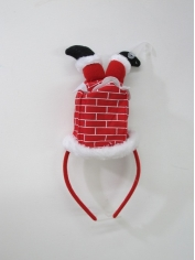 Santa in Chimney Headband - Christmas Accessories