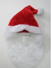 Santa Hat with Beards - Christmas Hats