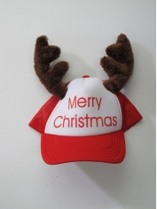 Santa Cap With Reindeers - Christmas Hats