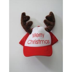 Santa Cap With Reindeers - Christmas Hats