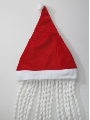 Santa Hat with White Dreadlock - Christmas Hats