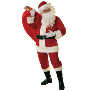 Deluxe Santa Suit - Mens Christmas Costume