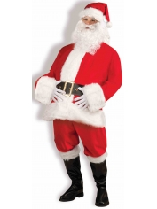 Santa Suit Velour - Mens Christmas Costume