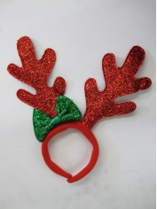 Red Glitter Reindeer Headband