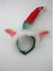 Mini Elf Hat Headband with Fur