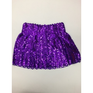 Sequin Skirt Purple - Disco Party Costumes