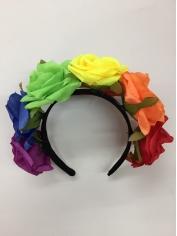 Rainbow Roses Headband - Mardi Gras Costumes