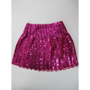 Sequin Skirt Pink - Disco Party Costumes
