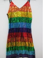 Sexy Rainbow Sequin Dress - Mardi Gras Costumes